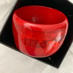 Jewelry - 🆕🔥Gorgeous Ultra Glossy Red Cuff Bracelet